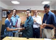 Award given to Calicut Main Branch for Achieving NRE Target for the Year 2017-18